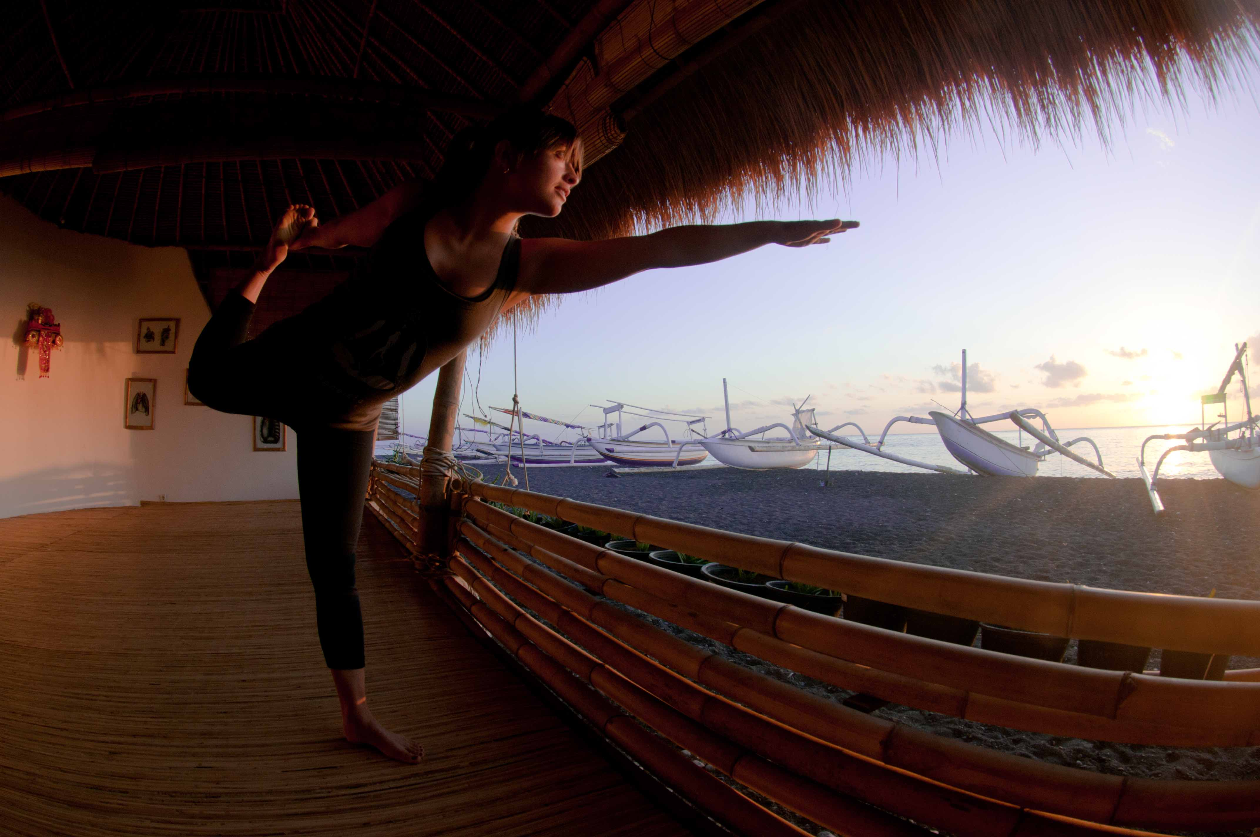 Picture of Yoga in Bali free diving and yoga education Bali