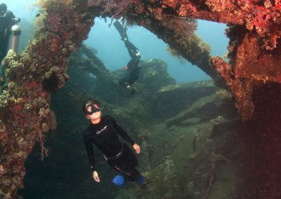 Freediving in Liberty Wreck