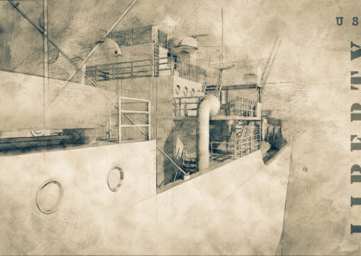 liberty wreck drawing