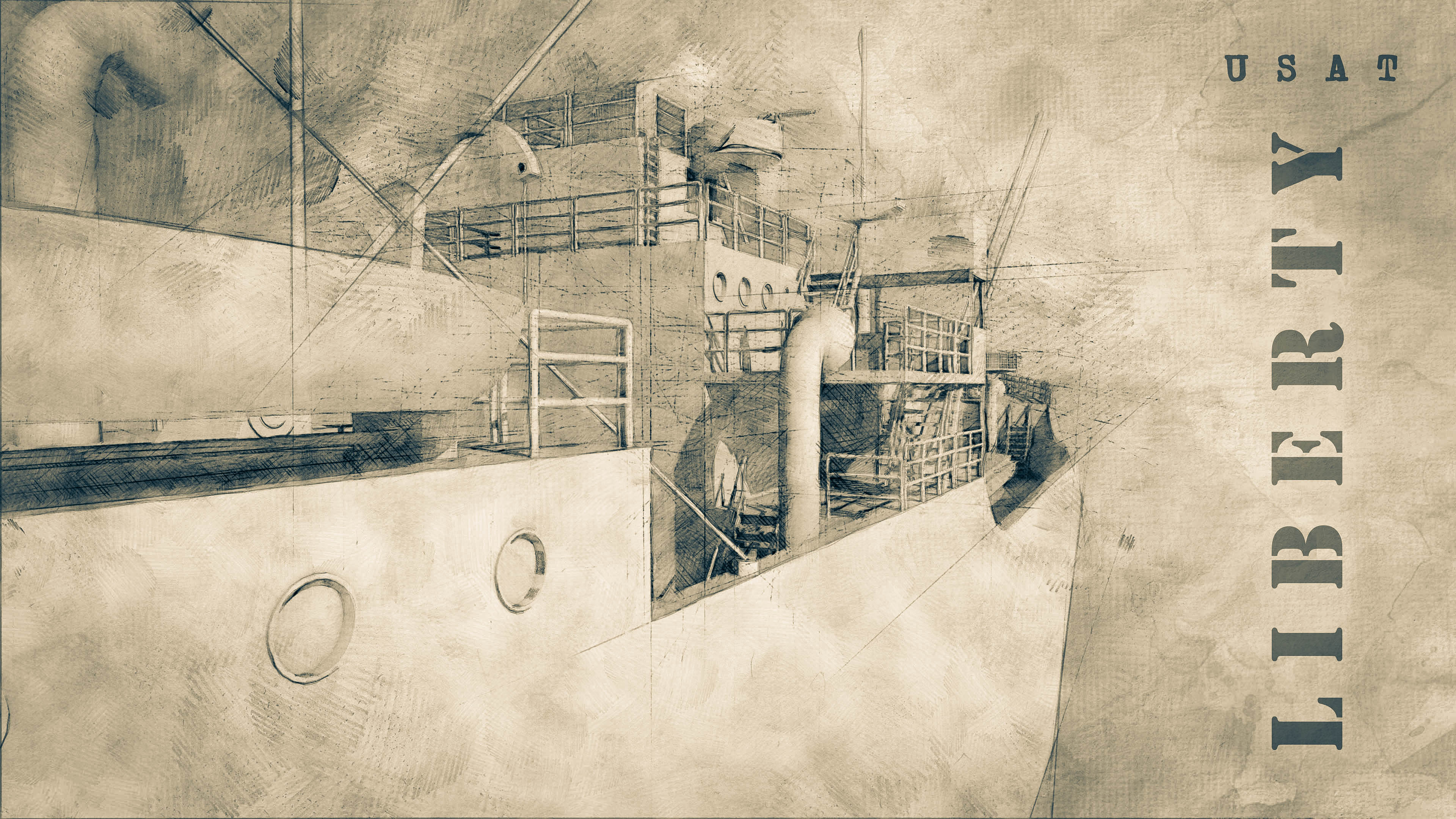 Picture of liberty wreck drawing