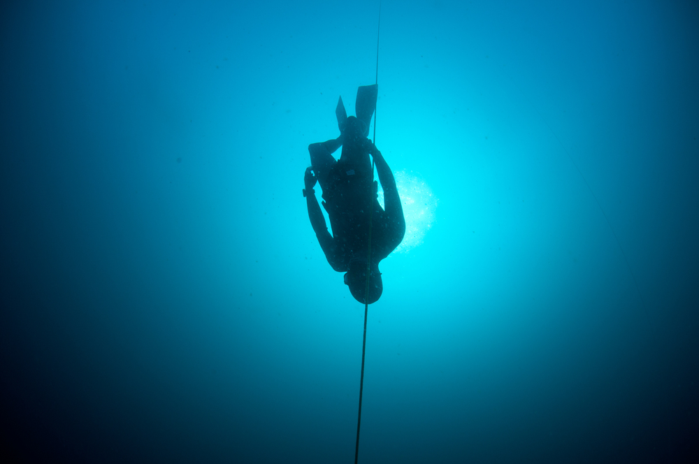 Picture 2 of a Freedive doing mouthfill workshop